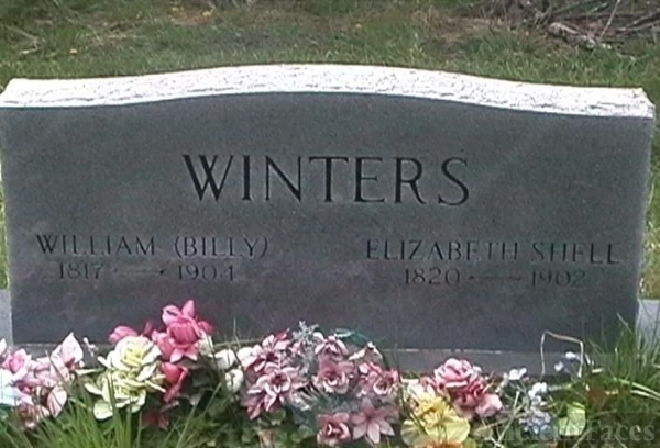 William (Billy) Winters  Elizabeth Shell Gravesite