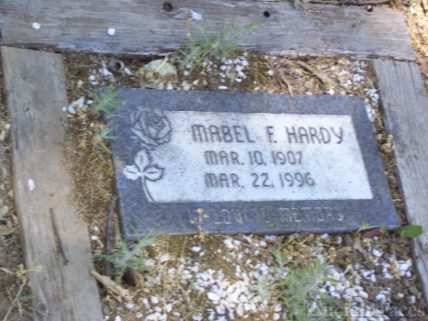 Mabel Hardy Headstone