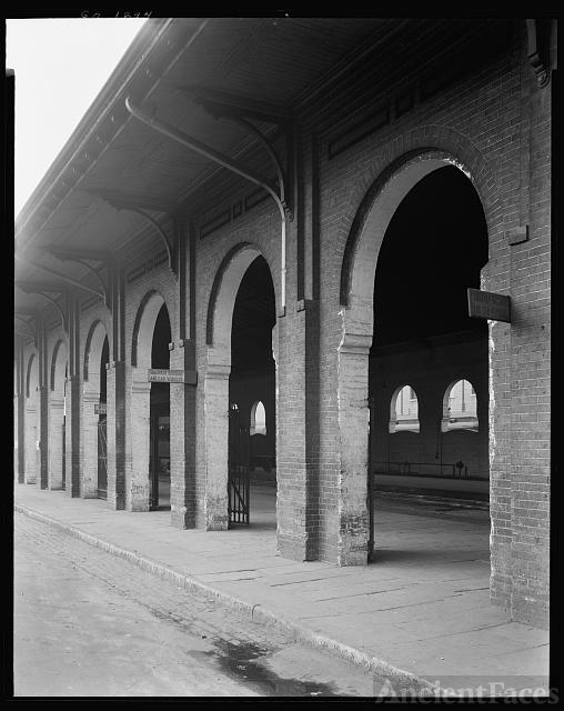 Train shed, Railroad Street, Savannah, Chatham County,...
