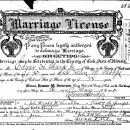 Helen Marie Thorpe marriage license