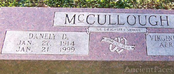Dane McCullough Tombstone