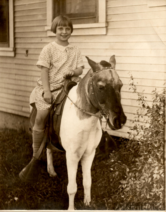 Frances Evelyn Martin & horse