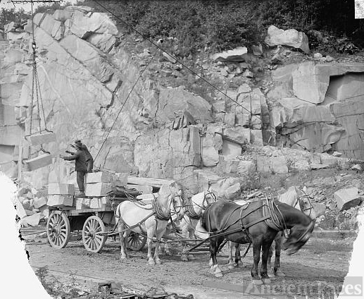 [Concord, N.H., loading granite, New England granite quarry]
