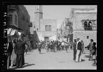 Rebel attack on Bethlehem, Sept. 14, '38. Arab youths...