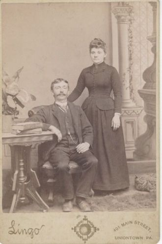 Unknown Couple, photo taken in Uniontown, Penn.