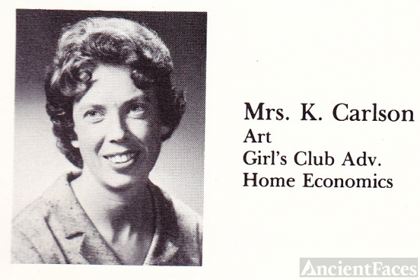 Mrs. K. Carlson Home Economics Teacher