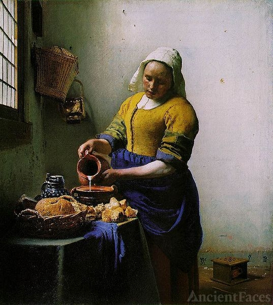The Milkmaid - Johannes Jan Vermeer