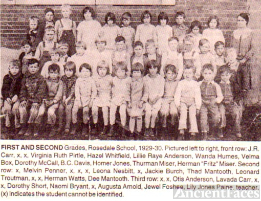 1929 1st and 2nd Grades, Rosedale, OK
