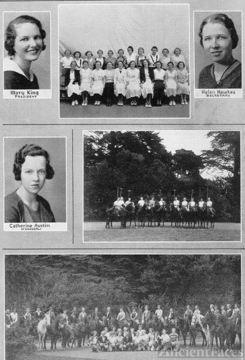 Mary King and Girls Polo & Riding Teams 1933