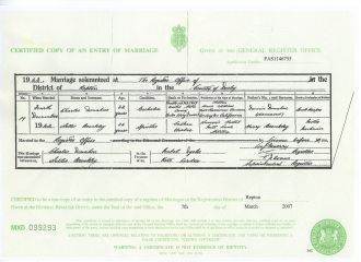 Charles & Nellie Donahue Marriage Certificate