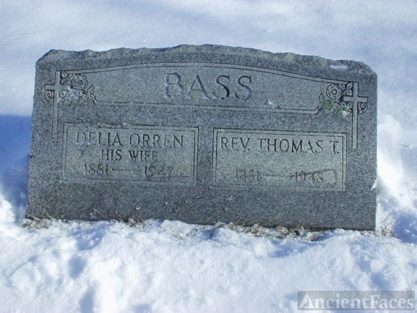 Thomas T. Bass and Delia H. Orren Bass Grave site