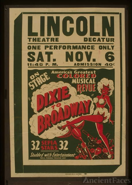 "On stage America's greatest colored musical revue ""Dixie..."