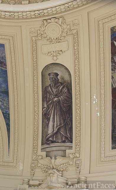 "Fresco painting ""Explorer Cabot"" located in rotunda of..."