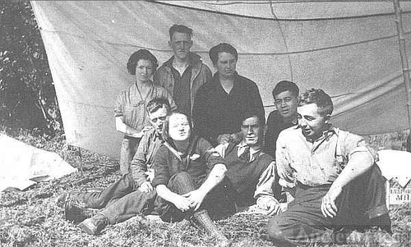 William Tasker family with friends