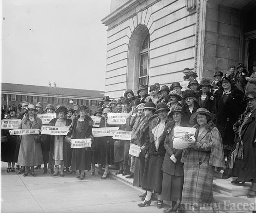 Women from New Jersey at Capitol to prohibition hearing,...