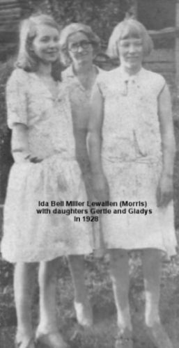 Ida Bell Miller Lewallen and daughters