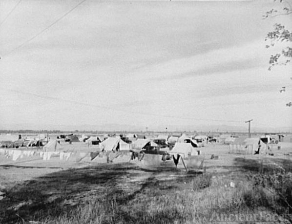 California Dust Bowl encampment, 1937