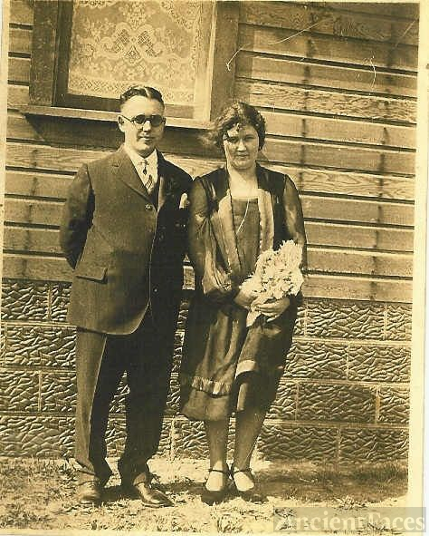 Carl & Vera Reeves On Their Wedding Day