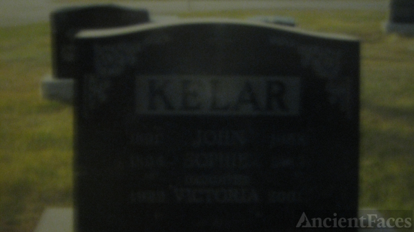 Kelar Family headstone