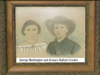 Arzerah and husband George Washington  Crocker