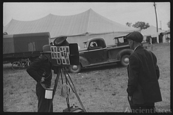 Tintype photographer at the Champlain Valley Exposition,...