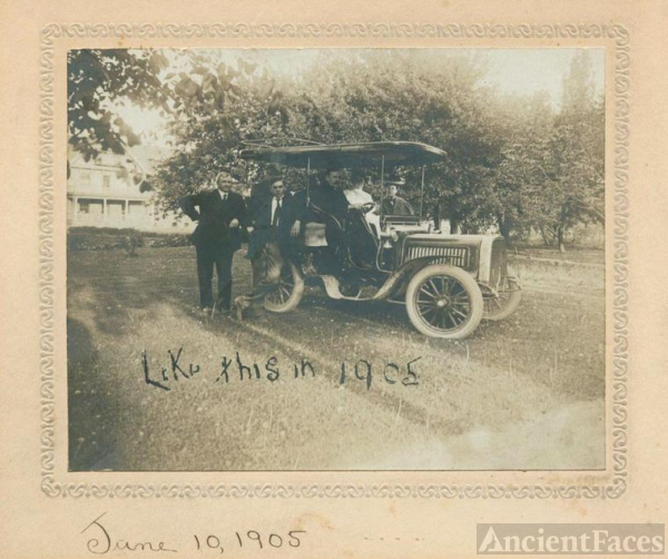 1905 - Family in their Touring Automobile
