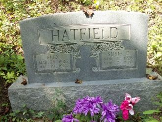 Alex & Susie (Stokes) Hatfield grave, West Virginia
