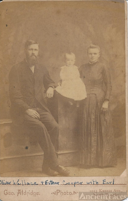 Oliver & Earl Wallace, Esther Cooper, Kansas