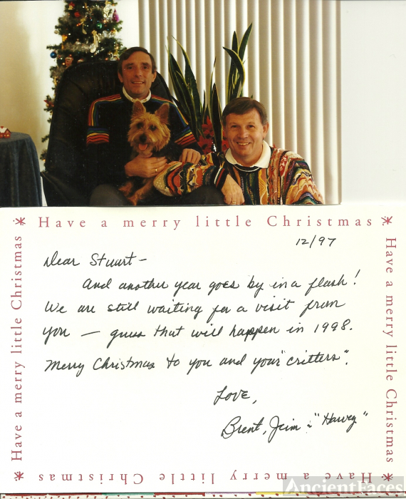 James P Russell christmas card