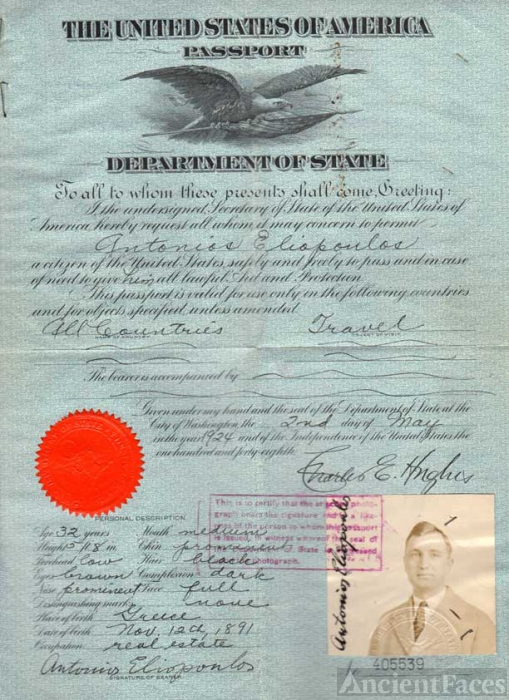 Antonios Eliopoulos passport
