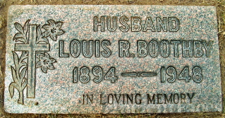 Louis Robert Boothby Headstone