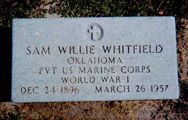 Samuel Wiley Whitfield Military Stone