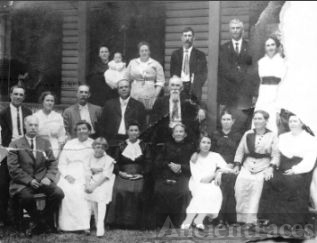 David P & Louemma (Long) Keister Family, 1910
