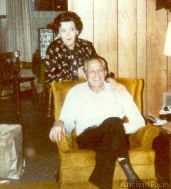 """Lonie"" Leona Bivins (Only daughter of Marion and Lillie Bivins) and her husband Ruben Ellis White"