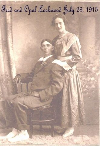 Fred & Opal (Scudder) Lockwood, Indiana 1915