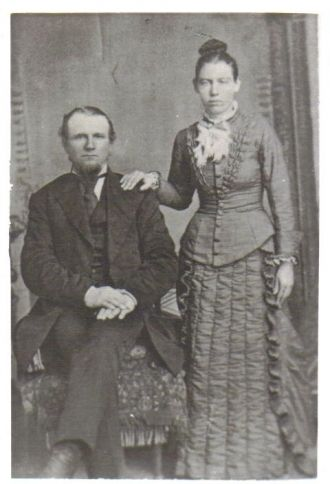 Michael & Mary (West) Moses, Iowa 1880