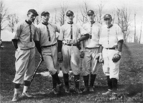 Carl Kautz  & Baseball team, c1912