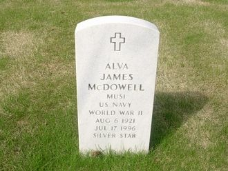 Alva James McDowell Headstone