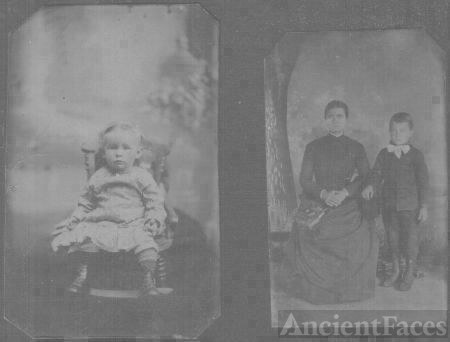 Two unknown metal plate pictures