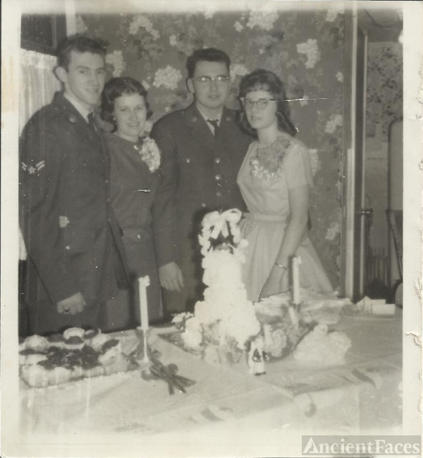 Donald Morris & Gloria Bubar Morris Wedding Picture-1960