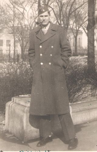 William Uhalt home from WWII, Wisconsin
