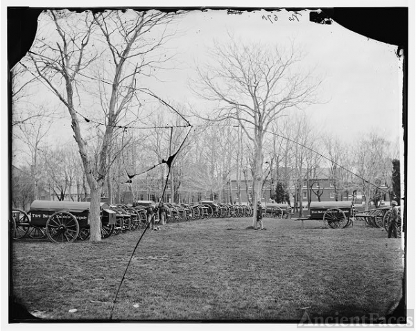 Washington, District of Columbia. Park of artillery...