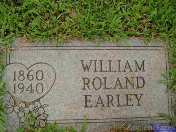 Burial Place of William Roland Earley