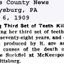 Cutting Third Set of Teeth Kills Her
