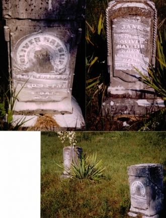 Oliver and Sarah Jane Hayslip  grave site