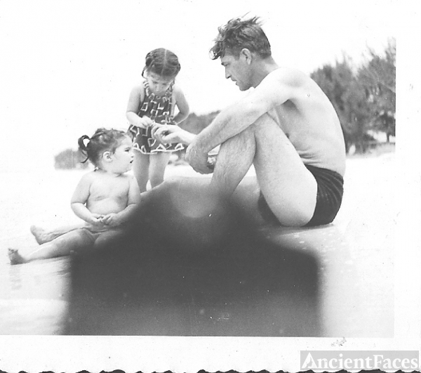 Ted, Noel, & Carroll Price, Florida 1950's