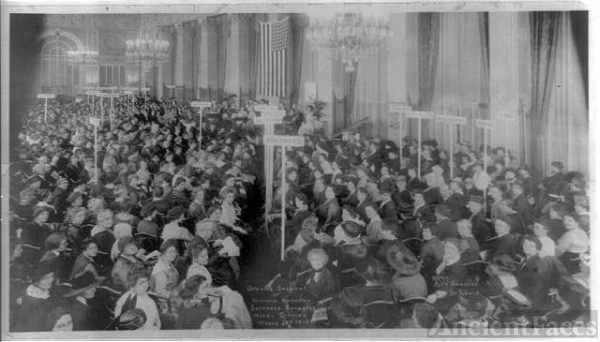 Opening session of National American Suffrage Congress,...