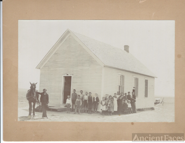 District School Hays,Kansas c.1900