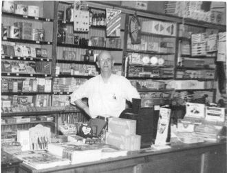 John Jones Marks Sr at Ham's Cigar Store
