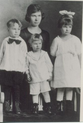 Martha Ann Hedrick and children
